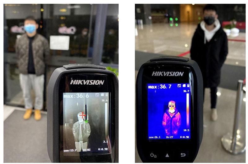 Hình ảnh camera ảnh nhiệt cầm tay cơ bản đo thực tế