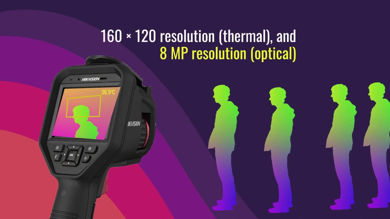 Hình ảnh thiết bị đo thân nhiệt cầm tay Hikvision