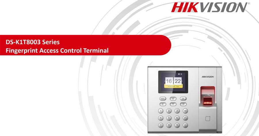 Máy chấm công vân tay Hikvision DS-K1T8003F